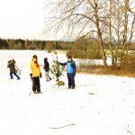 Kurzfreizeit Kaufunger Wald 2018 - 02 Draußen im Schnee